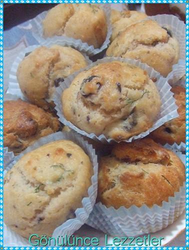 zeytinli dereotlu muffin