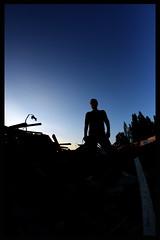 Focus (J@y C) Tags: blue sky silhouette focus fisheye bleu nuit urbex nignt siel samyang samyang8mm