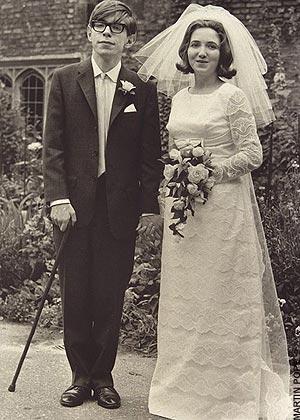 Stephen Hawking y su primera esposa Jane 1965