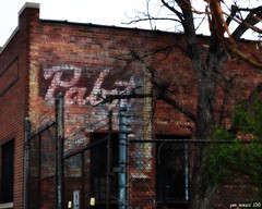 How About A Beer? (pam's pics-) Tags: urban brick beer sign architecture colorado denver co pabst lodo ghostsign paintedsign lowerdowntown doorsopendenver pammorris april2010 nikond5000 denverpam rhinoartsdistrict
