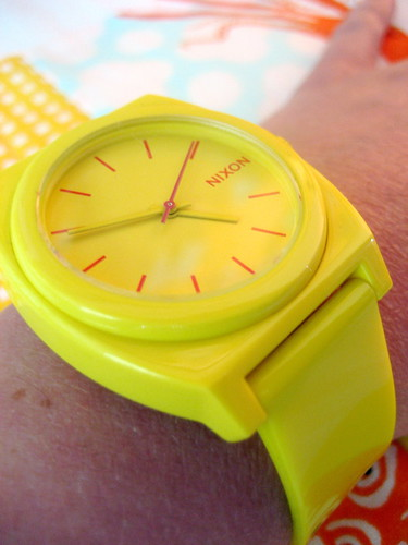 my yellow watch