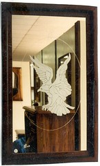 Stain Glass Pattern Eagle Etch (Imagination Unincorporated) Tags: eagle sandblast etchedglass customframe etchedmirror stainglasspattern