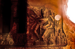 Nataraja at Badami - Photographing The Cave Sculptures (Anoop Negi) Tags: red portrait bali cliff india holiday tourism monument rock stone architecture century religious temple photography for photo dance sand sandstone media vishnu dancing image photos cut delhi indian religion bangalore creative culture images canyon carving best caves empire po ritual cave shiva mumbai karnataka hindu hinduism nataraja epic anoop jain tale myth 6th fable badami chalukya negi bahubali monolithic jainism hubli tandava bagalkot photosof ezee123 bestphotographer vatapi imagesof anoopnegi jjournalism