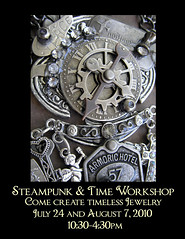 Steampunk & Time Workshop (Lisa Kettell) Tags: necklace lafayette time nj jewelry workshop pendant steampunk artworkshop clockparts lisakettell joankettell apothecarystyle