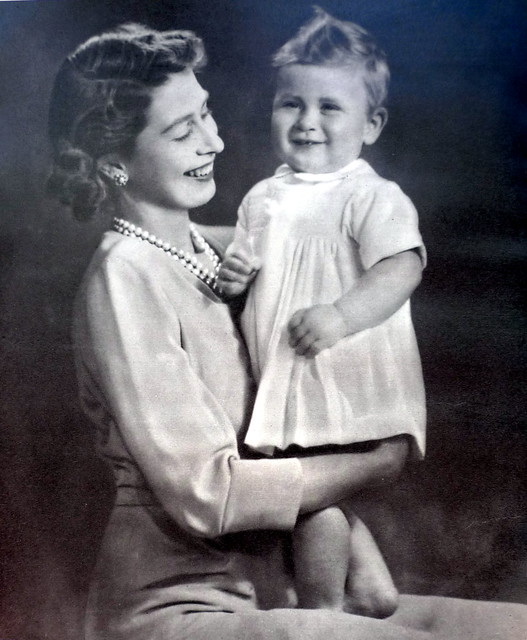 The Queen and Prince Charles 1949