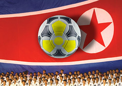 North Korea ready to beat Brazil! (Eric Lafforgue) Tags: brazil southafrica football war asia bresil korea asie worldcup coree northkorea 2010 dprk coreadelnorte nordkorea    coreadelnord   insidenorthkorea  rpdc  kimjongun coreiadonorte
