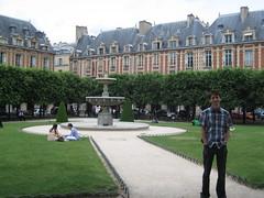 Le parc de la place des Vosges