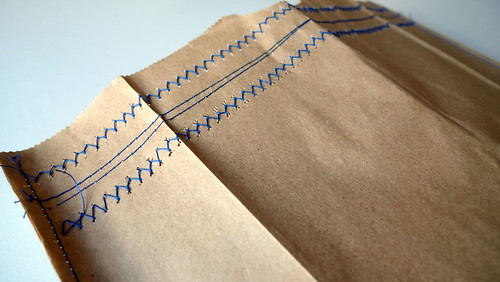 stitched paper bag detail