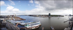 Panorama from the harbour building - 18 May 2010