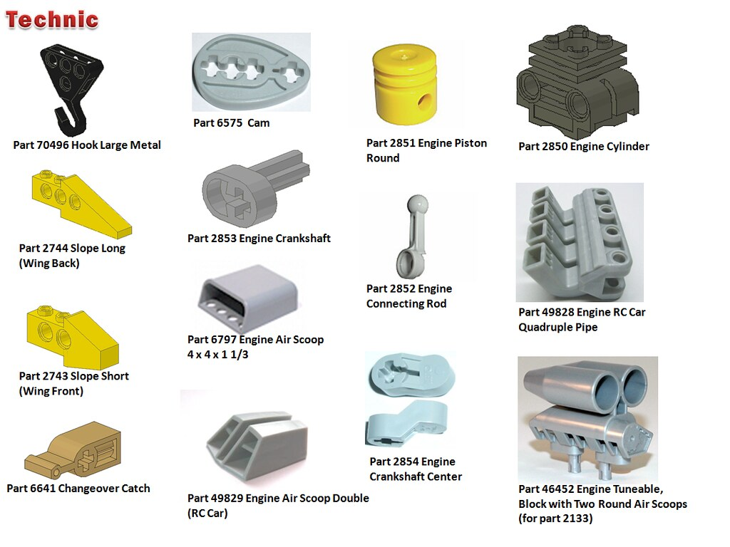 Lego Element Wall Parts Index Catalog Amp Categories V2