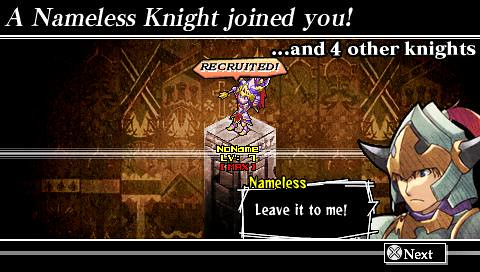 Knights in the Nightmare PSP: nameless knight