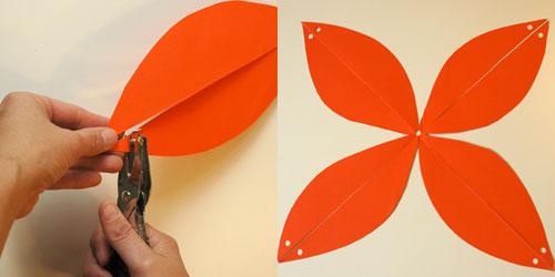 How to Make Easy Paper Pumpkins (step 2) by Brenda Ponnay for Alphamom.com