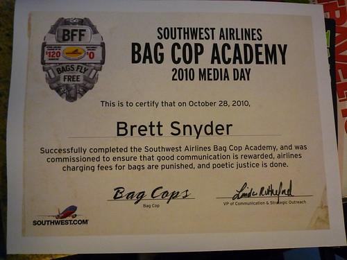 Bag Cop Academy