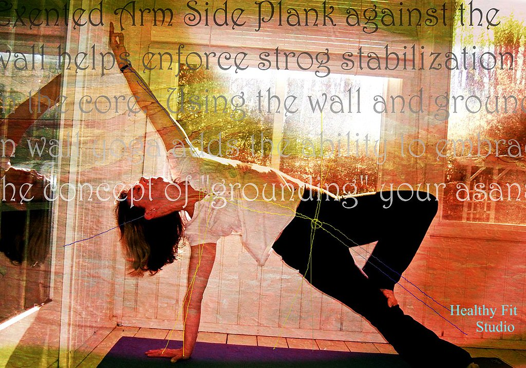 Side Plank Wall Yoga