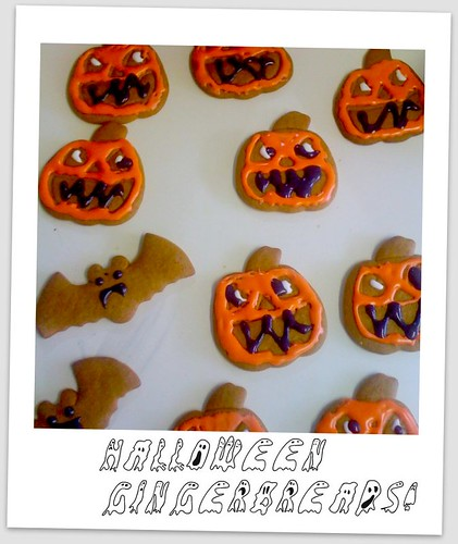 Halloween gingerbreads