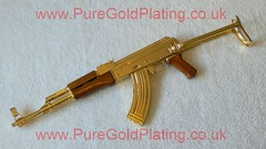 Gold Plated AK-47 p (PureGoldPlating) Tags: goldplated ak47 goldplating assaultrifle goldplatedgun goldplatedak