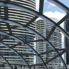 from inside the spider's web. (roB_mL (Away & Disneyed_out In Orlando) ...) Tags: architecture australia melbourne abstracted webbbridge dentoncorkermarshall