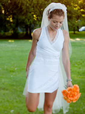 Oiselle Running Wedding Dress