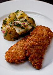 Homemade Veal Schnitzel & Potato Salad