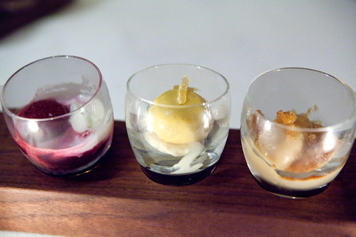 Ice cream and sorbet flights