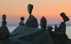 Impossible (janusz l) Tags: station rock evening bravo railway whiterock stacking balancing impossible semiahmoobay janusz leszczynski 234305 jamiehlady professionalrockbalancer