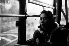 rainy days (khaniv13) Tags: street people bw bus film window rain analog random jakarta rainy 400 yashicaelectro35gsn luckyshd100 khaniv13