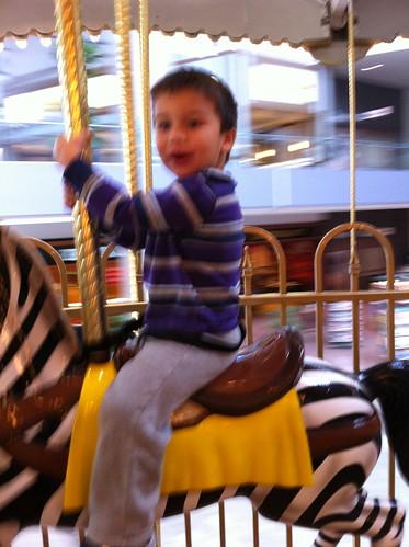 Finn on the carousel