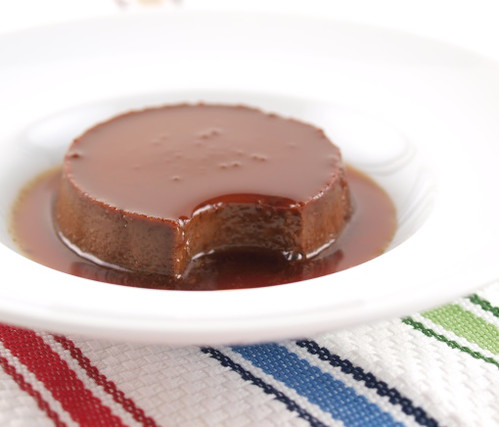Chocolate and Red Coconut Curry Creme Caramel
