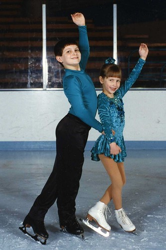 Will (11) and Christina (6) in their first skating (including pairs skating) experience, 1996.