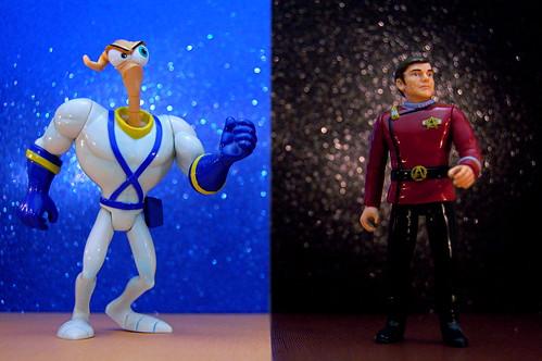Earthworm Jim vs. Commander Pavel Chekov (321/365)