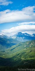Mountains, Valleys, and Clouds Vertical Panorama (Rick Deacon) Tags: panorama bluegreen breathtaking clouds hills landscape mountains outdoor panoramic positive scenic sky trees valleys vertical view views