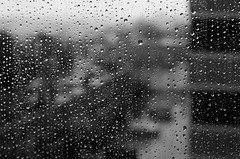 Rainy days (Rabican7) Tags: rain water drops blur view blackandwhite bw rainy