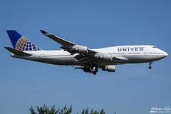 United Airlines --- Boeing 747-400 --- N121UA (Drinu C) Tags: adrianciliaphotography sony dsc rx10iii rx10 mk3 fra eddf plane aircraft aviation unitedairlines boeing 747400 n121ua 747