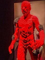 Grasp by Lego artist Nathan Sawaya (mharrsch) Tags: grasp restrain red lego sculpture art nathansawaya artofthebrick exhibit omsi oregonmuseumscienceandindustry oregon mharrsch