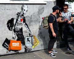 Street Art in South Kensington (scats21) Tags: streetart southkensington graffiti loretto iloveearth