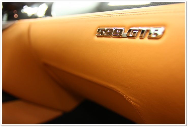 Ferrari 599 GTB interior badge