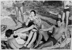 1950s group man men women swim trunks square cut speedo shirtless swim suits (Christian Montone) Tags: shirtless man men women group briefs 1950s speedo underwearandswimwear