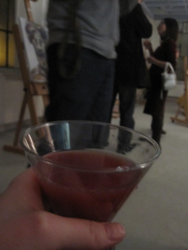 Drink at Jessica's art show
