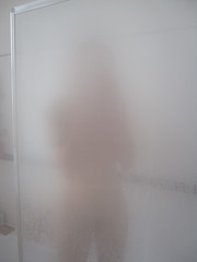 Ariel in the shower