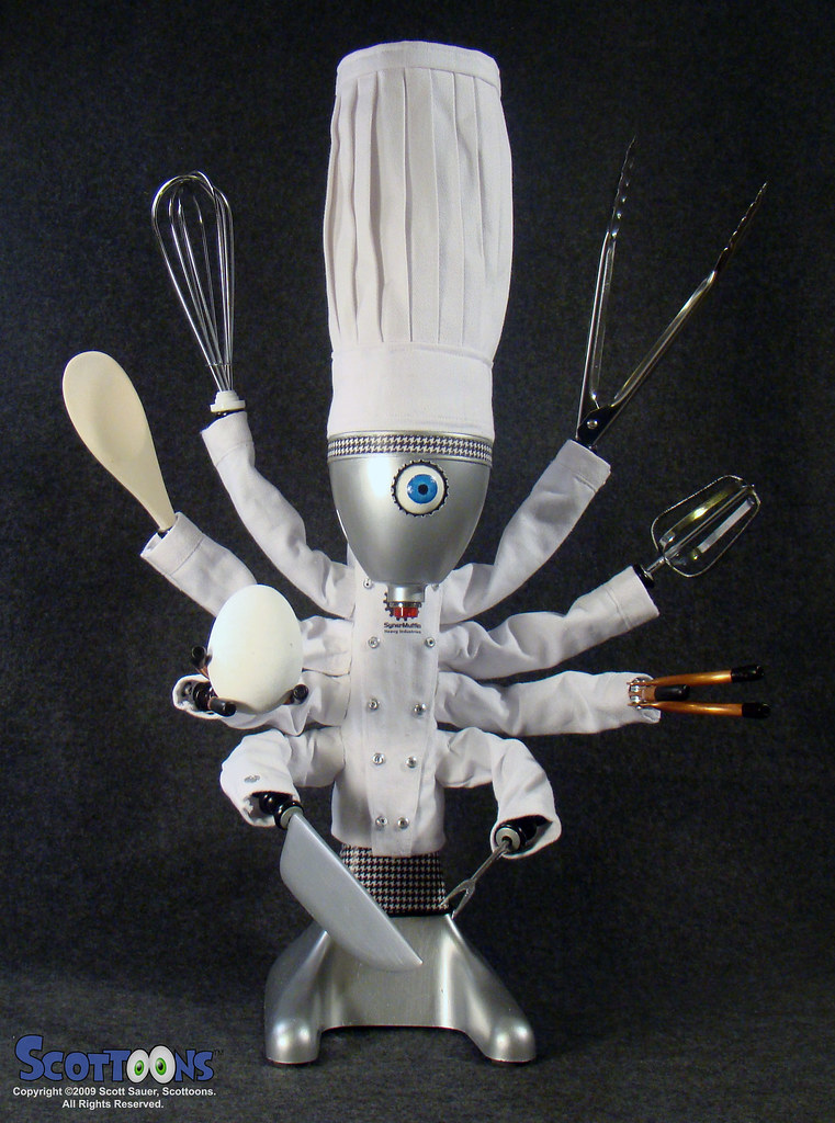 ChefBot: robot chef and cyber cook