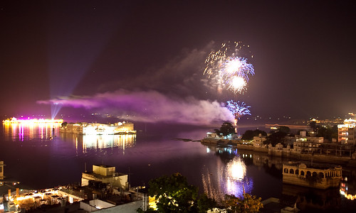 Fireworks at the Lake Palace, Udaipur