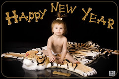 Happy New Yearrrrrrrrrr! (MissSmile) Tags: friends wild baby children kid funny child artistic joke tiger creative card bones bone happynewyear misssmile