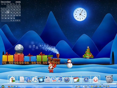 Desktop 2009-12: Xmas Silent Night