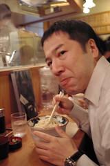 Last Yashima at Tomigaya with Naokazu (digitalbear) Tags: japan last restaurant tokyo udon shibuya morita yashima tomigaya naokazu