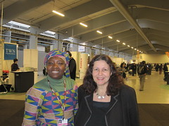 Fighting for gender equity at COP15 with a delegate from Africa (greener2) Tags: centre 15 cop inside bella