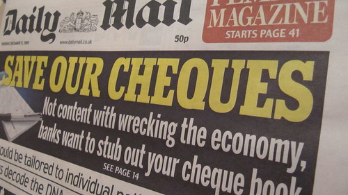 Save Our Cheques campaign