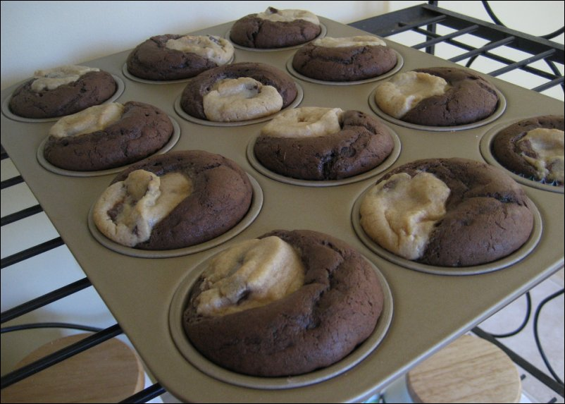 cookie dough cuppycakes - cooling