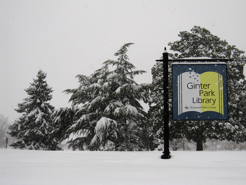 Ginter Park Library sign