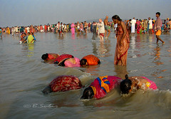 washing off  sins.... (subirbasak) Tags: india river bath fair ritual pilgrim rites mela westbengal gangasagar holybath artofimages bestcapturesaoi