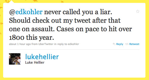 Luke Hellier Deny's Lying in the Face of Documented Facts